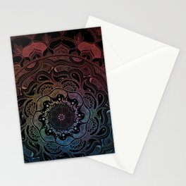 Night Mandala  Stationery Cards