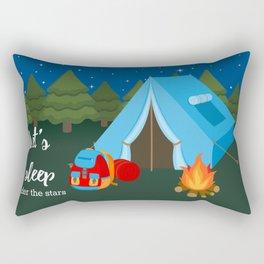 Camping blue tent Rectangular Pillow