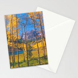 Aspen at Maroon Lake above Aspen, Colorado Stationery Cards