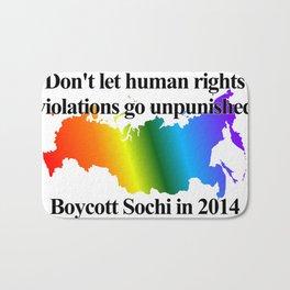 Boycott Sochi - Rainbow Flag Gradient Bath Mat