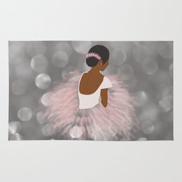 African American Ballerina Dancer Rug