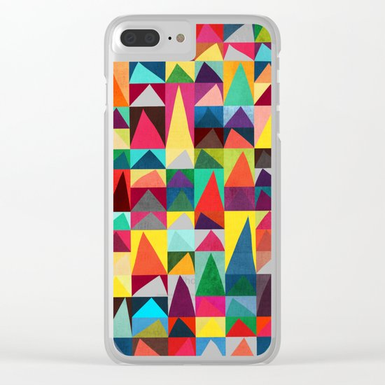 Abstract Geometric Mountains Clear iPhone Case