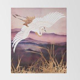 Elegant Flight III Throw Blanket