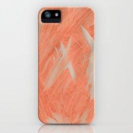 Kaws cross, Abstract, Orange Flamengo iPhone Case