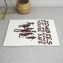 Zombies Eat Brains You're Safe Zombies design Rug