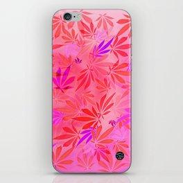 Blush Cannabis Swirl iPhone Skin