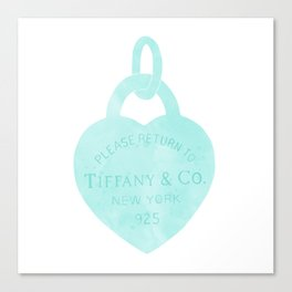 Tiffany heart locket charm Canvas Print