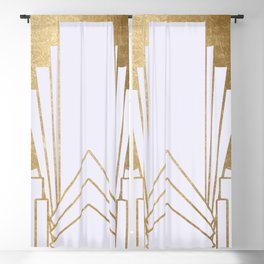 Art Deco design - blonde Blackout Curtain