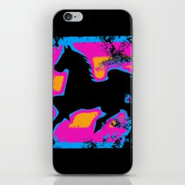 Colorful Western-style Horse Silhouette iPhone Skin