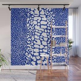 ANIMAL PRINT SNAKE SKIN BLUE AND WHITE PATTERN Wall Mural