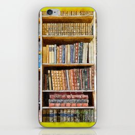 books background in watecolor style iPhone Skin