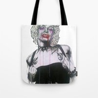 celebrity Tote Bags featuring Celebrity by R.A.Carrie