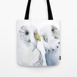 Budgies Watercolor Tote Bag