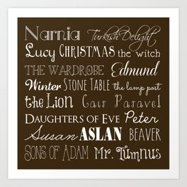 Narnia Celebration - Mocha Art Print