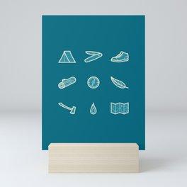 Outdoor Icons Mini Art Print