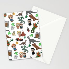 Jurassic Park Bits Stationery Cards