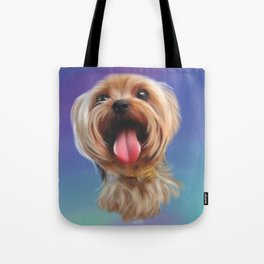 Yorkshire Terrier Dog Puppy digital painting Tote Bag
