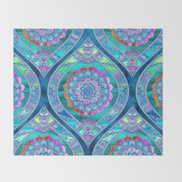 Radiant Boho Color Play Throw Blanket