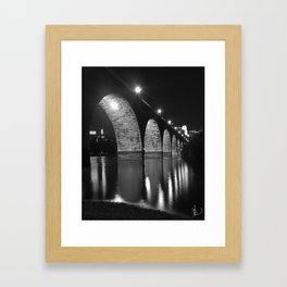 Stone Bridge Stars Framed Art Print