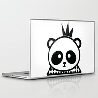 prince Laptop & iPad Skins featuring Panda Prince by Inkroyable