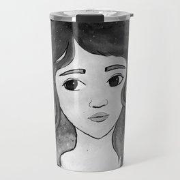 Celestine - Black and White Travel Mug