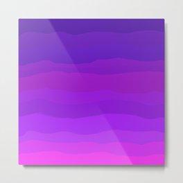Purple Pink Waves Metal Print