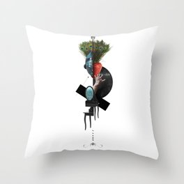 IN VEIN (Totem of the Peacock) Throw Pillow