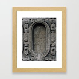 Old buildings concrete Framed Art Print