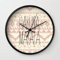 hakuna Wall Clocks featuring Hakuna Matata by dani