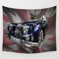 british Wall Tapestries featuring British Beauty by Cozmic Photos