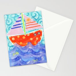 Happy Sailing Stationery Cards