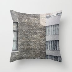 Snowing in New York City Throw Pillow