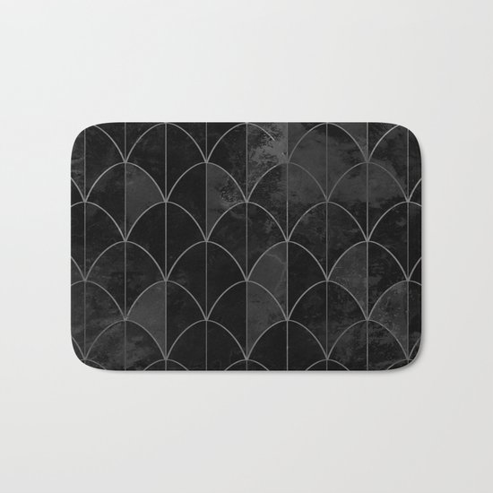 Mermaid scales in black and white. Bath Mat