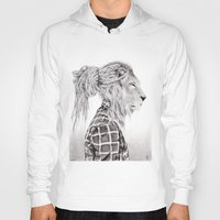 reggae Hoodies featuring Reggae Lion by SABIN.M