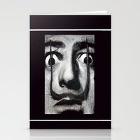 dali Stationery Cards featuring I am drugs ( Salvador Dali ) by Black Neon