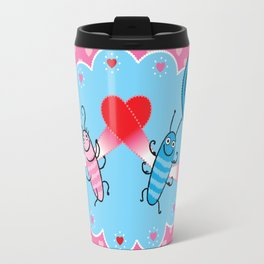 Lovebugs - Time flies when I'm with you Travel Mug