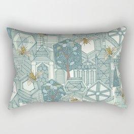 hexagon city Rectangular Pillow