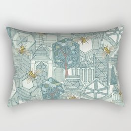 hexagon city Rectangular Pillow