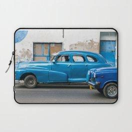 Vintage Blue Cars Laptop Sleeve