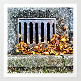 In the gutter Art Print