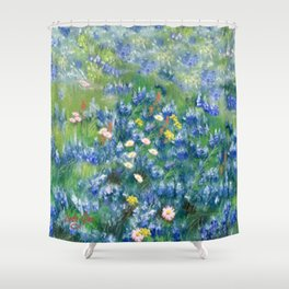 Spring Flowers in Texas Shower Curtain