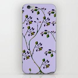 A Wild Berry Vine, Black Berries, Spring Fruit iPhone Skin