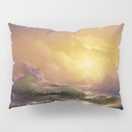 The Ninth Wave nautical sunset ocean storm landscape masterpiece by Ivan Aivazovsky Pillow Sham