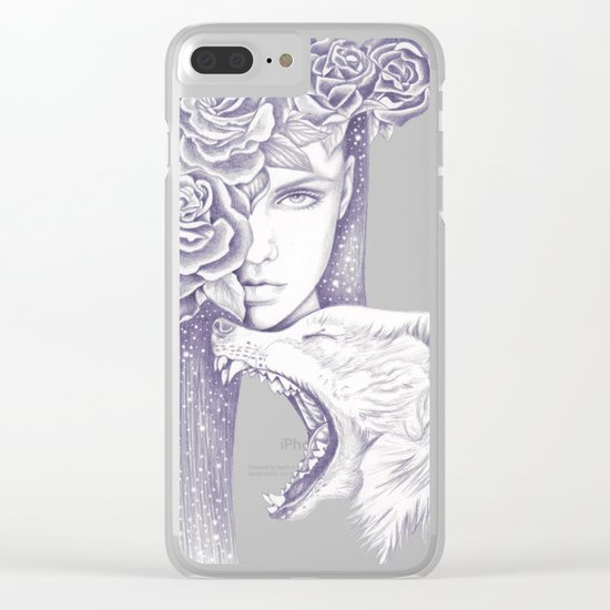 Night Of The Wolf Clear iPhone Case