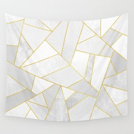 White Stone Wall Tapestry