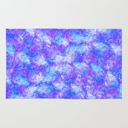 Purple, Blue and White; Fluid Abstract 54 Rug