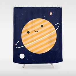 Happy Planet Shower Curtain