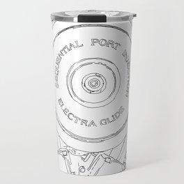 cycle detail, motor, drawing Travel Mug