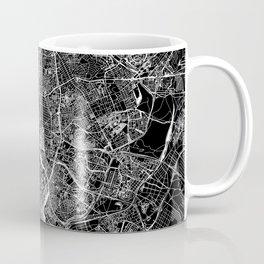 Madrid Black Map Coffee Mug