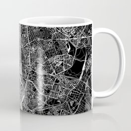 Madrid Black Map Coffee Mug